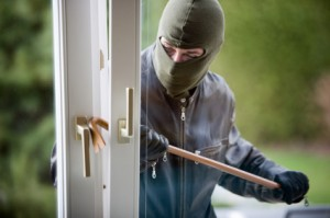 Burglary - a thief breaking in and entering property