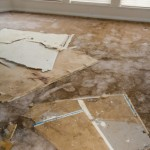 Burst pipe Water damage - plasterboard and carpet