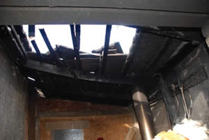 Fire Claim - A family home in Dublin damaged by fire