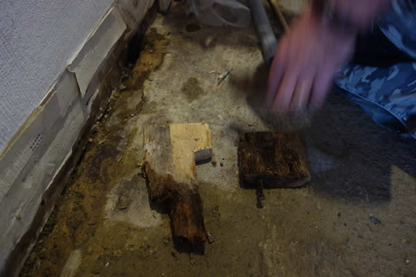damage caused by leaking central heating pipe