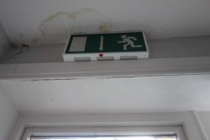 Roof leak Water Damage to the ceiling