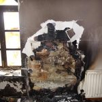 Fire damaged home in Howth Sutton