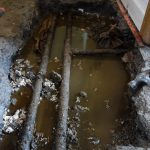 Pipe Leak water damage North Dublin