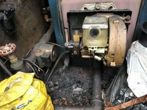 Oil leak at boiler