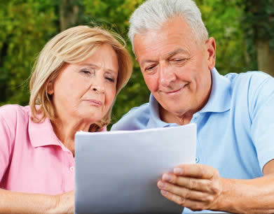 Couple with claim form